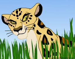 Makucha the Leopard! by OzzyRingoBrucey