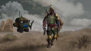 Boba Fett Redesigned- 'On The Hunt' by hittyskibbles