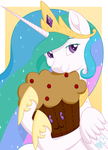 Celestia's Muffin Plushie by Beadedwolf22