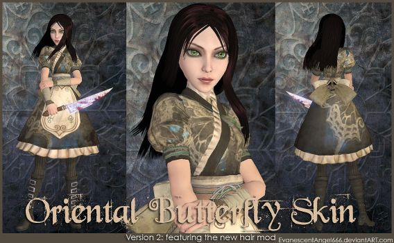 A:MR Skin - Oriental Butterfly by EvanescentAngel666