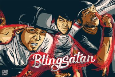 BLINGSATAN - REDRAW 4 CD COVER ALBUM by Yusuf-Graphicoholic