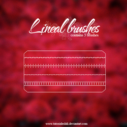 Lineal brushes II by tutorialeslali