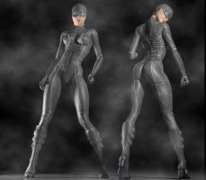 Catwoman 2017 2nd skin textures for V4 by hiram67