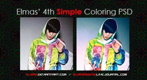 Elmas' Simple Coloring PSD 04 by Elmas