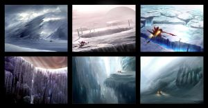 Environment Speed Paintings by NateHallinanArt