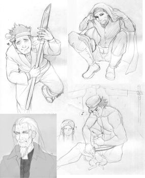 Golden Kamuy sketches by Mafer