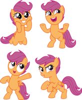 Expressive Scootaloos by CloudyGlow