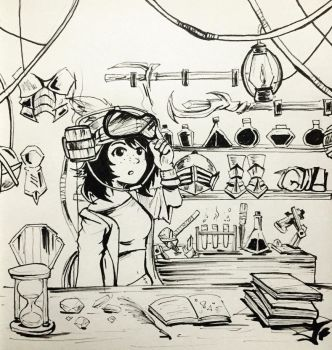 Day 16: Inventory Shop - Inktober 2017 by Jhincx-Faust