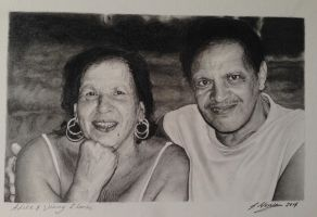Loving Carers, kind parents,rip  pencil drawing by SamanthaMessias
