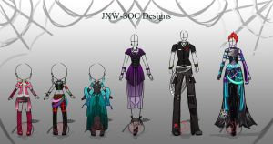 Clothing Montage Pyramid Design [CLOSED] by JxW-SpiralofChaos