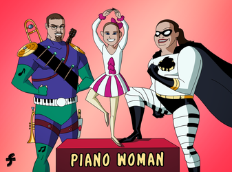 Piano Woman and Band Man | COMMISSION by JTSEntertainment