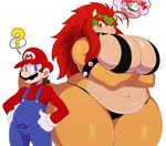 Bowser and Mario by ss2sonic