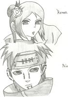 Pein and Konan by KoyukiNguyen