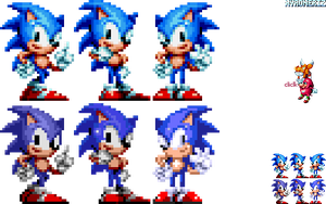 Sonic Mania - Trilogy poses collab by Xyroneriz