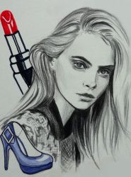 Cara Delevingne by Librie