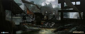 Resistance 3 - Remnants Hideout by dee-virus