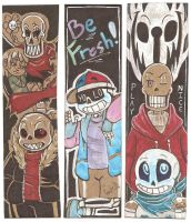 More Undertale AU Bookmarks by The-real-Vega777