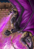 Commission - Furious dragon by FuriarossaAndMimma
