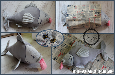 + Commission: Dead Fish Wrapped in a Newspaper + by LionCubCreations