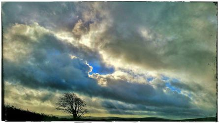 Sky Over Bodmin Moor by struckdumb