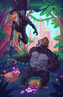 Black Panther vs Gorilla Grodd by roygbiv666