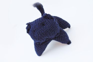 Navy Blue Radical Kitty by Cloudpow