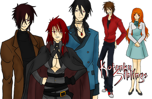 Kotenku Siblings -- info by Noir-fox5
