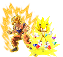 Super Saiyan Goku and Super Sonic by Banjo2015