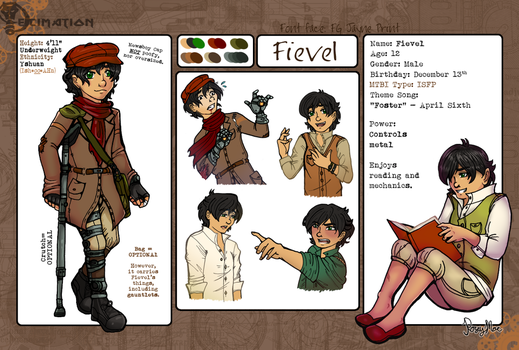 Decimation Characters Sheets - Fievel by RoseyRoseyMae
