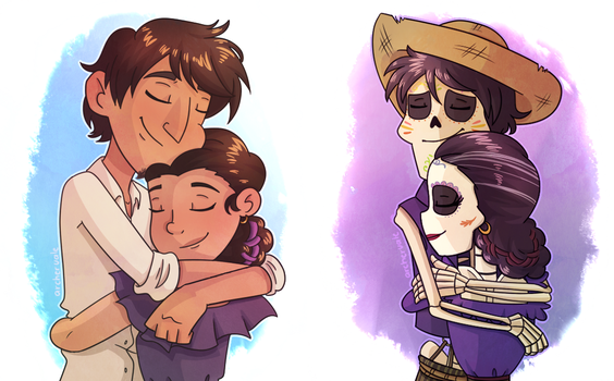 [Coco Spoilers] Hugs through time by ArcherVale