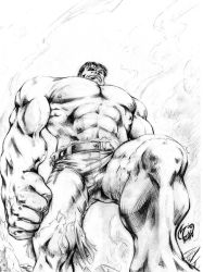 The Incredible Hulk stare down by MatiasSoto