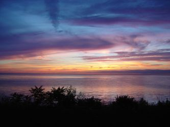 Lake Michigan Sunset by squirrelythis
