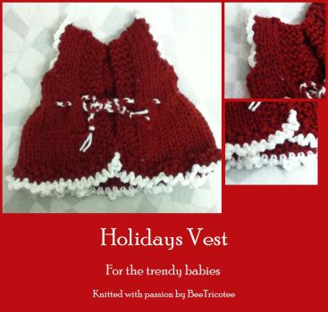 Holidays Vest by Bee047