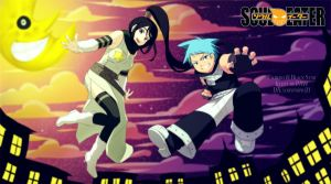 Black Star and Tsubaki Soul Eater by luqypiupiu21