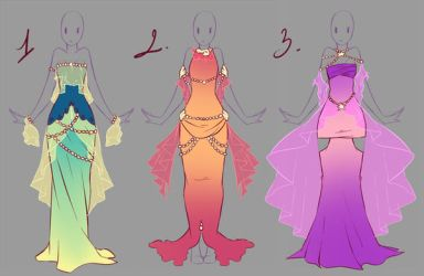 Outfits adopts 7 - Paypal Auction CLOSED by rika-dono