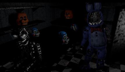 Fnaf 2 in Fnaf 1 by nightmarefoxypirate0