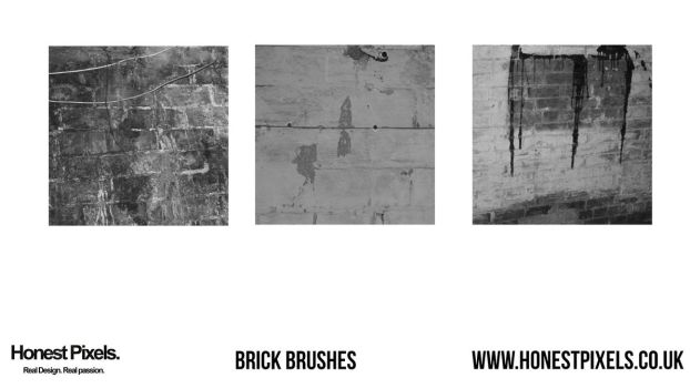 Brick wall photoshop brushes by honestpixels