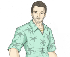 Tommy Vercetti - Colored by Yeiser