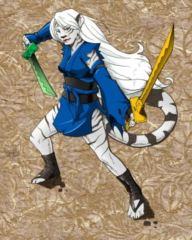 White Tiger Girl by mierin25