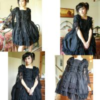 Bustle Dress and Netted Skirt by BambiBlast