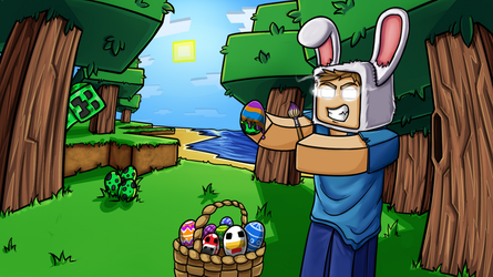 Minecraft Herobrine's Easter by GoldSolace