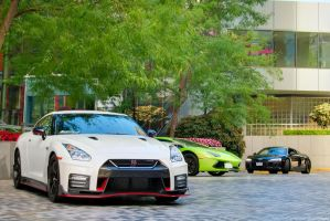 Nismo GT-R and Friends by SeanTheCarSpotter