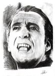 Christopher Lee as Dracula by NicoleSt