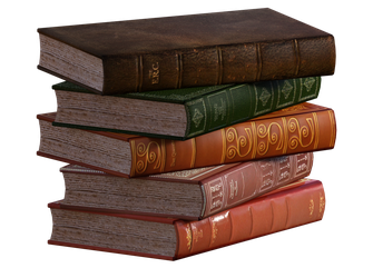 FREEBIE STACKED BOOKS PNG OVERLAY by lewis4721