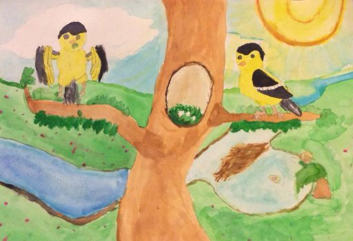 The Goldfinches by RandomeLight