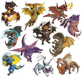 Thedas Dragons by Atarial