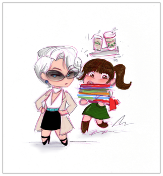 The Chibi Wears Prada by sapphicspencil