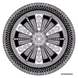 Mandala hand drawing 43 by Mandala-Jim