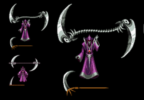 Death Sprite Upgrade - Castlevania Aria of Sorrow by Kradakor