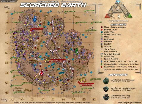 Ark Scorched Earth Map 2017 by Exhumed by 3xhumed